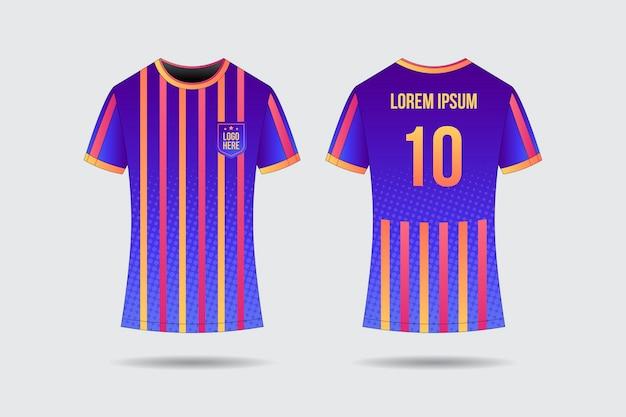 Concepto de uniforme de fútbol