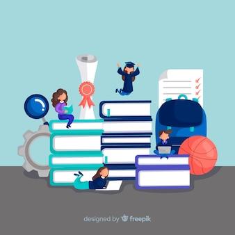 Concepto de universidad en diseño plano