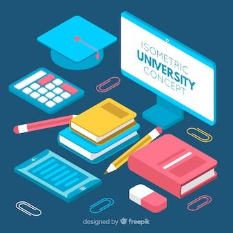 Concepto de universidad en isométrico