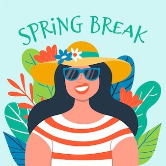 Concepto de vacaciones de primavera