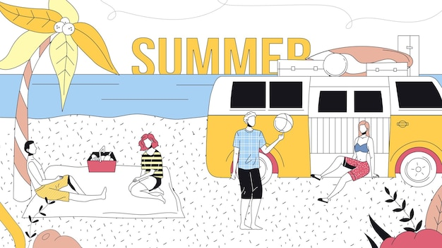 Concepto de vacaciones de verano.