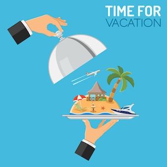 Concepto de vacaciones y viaje