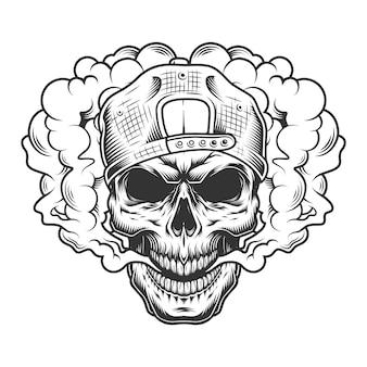 Concepto vaper cráneo
