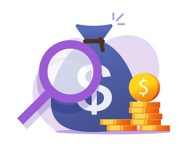 Concepto de vector de cheque de ahorro de finanzas de dinero, gestión de auditoría de impuestos financieros