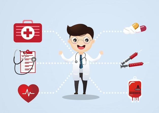 Concepto de vector de consulta médica