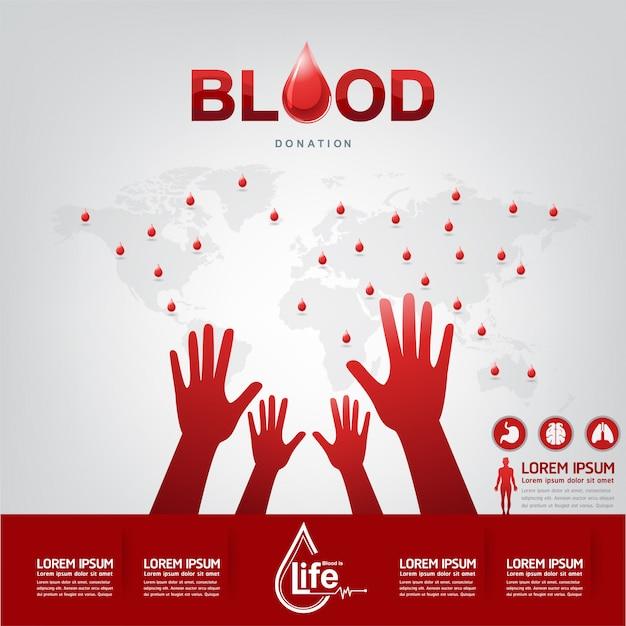 Concepto de vector de donación de sangre