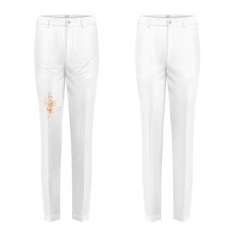 Concepto de vector de experimento removedor de manchas de los pantalones