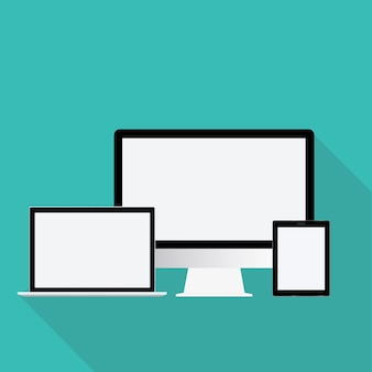 Concepto de vector de icono de dispositivo de tecnología digital
