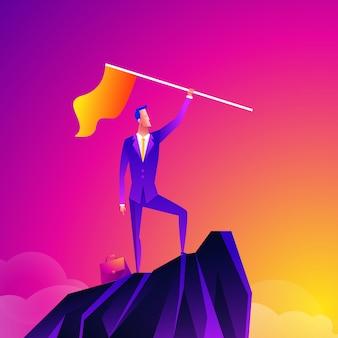 Concepto de vector de líder empresarial