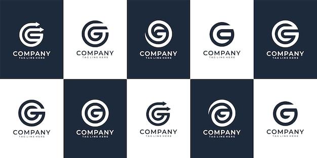 Concepto de vector de logotipo moderno y elegante letra inicial g para la marca