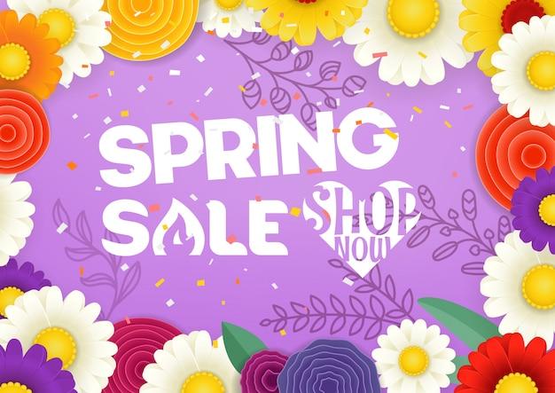 Concepto de vector de venta de primavera