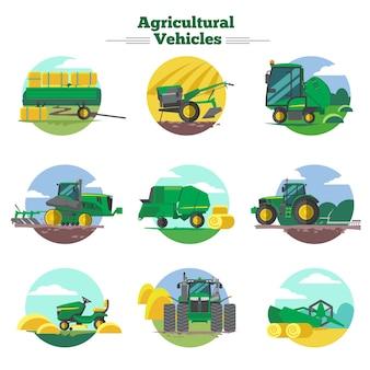 Concepto de vehículos agrícolas
