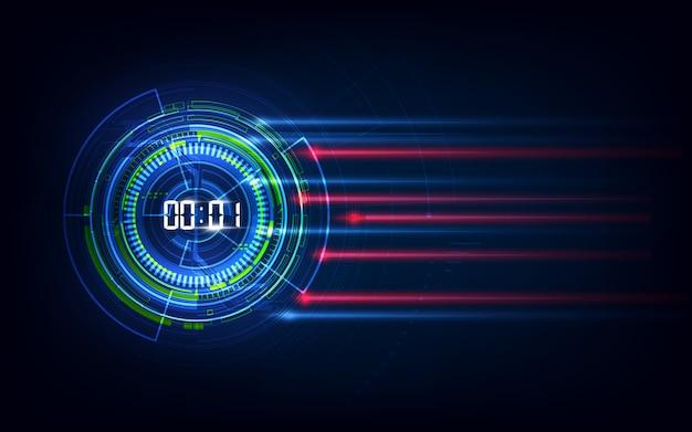 Concepto de velocidad de tecnología abstracta. antecedentes