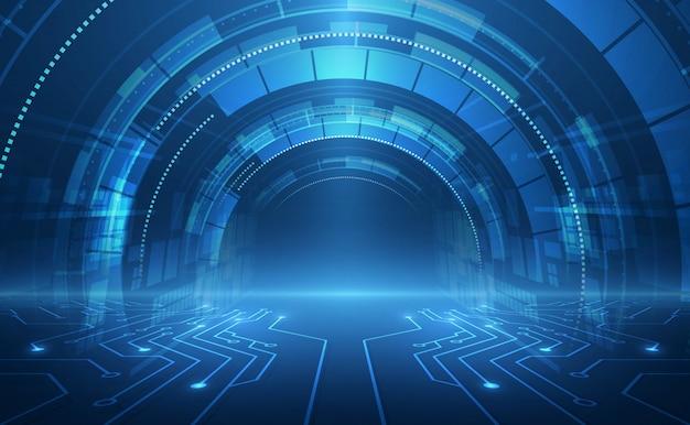 Concepto de velocidad de tecnología abstracta