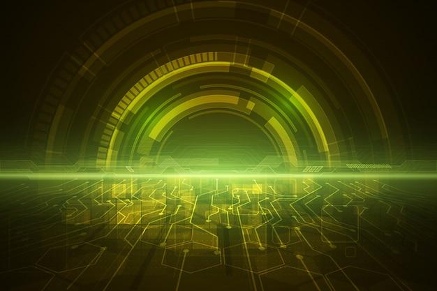 Concepto de velocidad de tecnología abstracta.