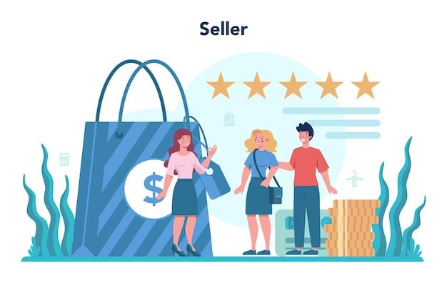 Concepto de vendedor.