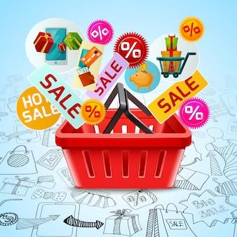 Concepto de venta de compras