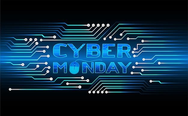 Concepto de venta cyber monday