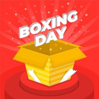Concepto de venta de día de boxeo en diseño plano