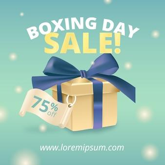 Concepto de venta de día de boxeo realista