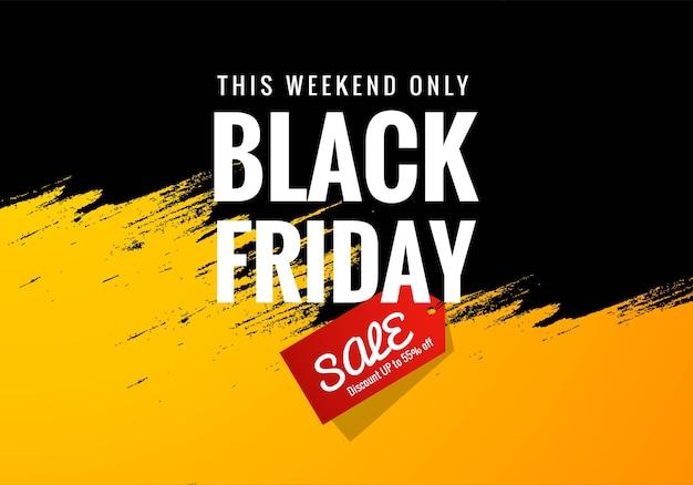 Concepto de venta de fin de semana de viernes negro