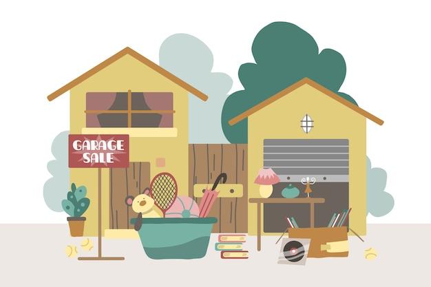 Concepto de venta de garaje