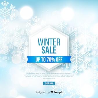 Concepto de venta de invierno borrosa