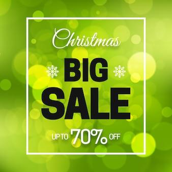 Concepto de venta de navidad borrosa