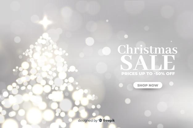 Concepto de venta de navidad con fondo borroso