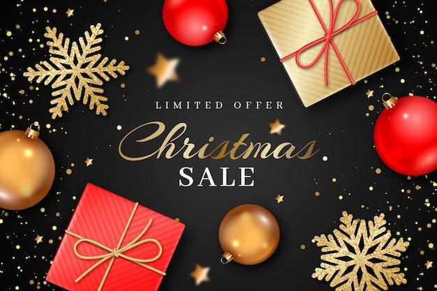 Concepto de venta de navidad realista