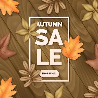 Concepto de venta de otoño realista