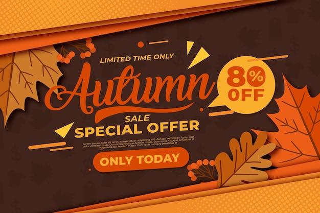Concepto de venta otoño vintage