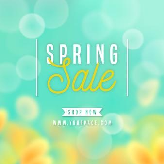 Concepto de venta de primavera borrosa
