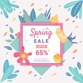 Concepto de venta de primavera de diseño plano