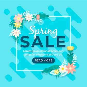 Concepto de venta de primavera promocional de diseño plano