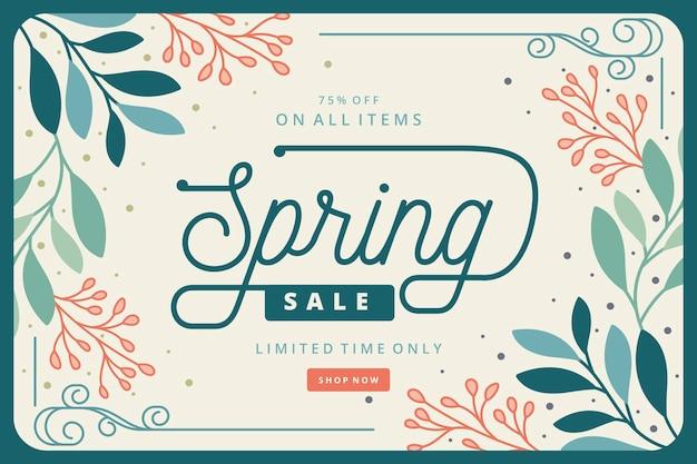 Concepto de venta de primavera retro