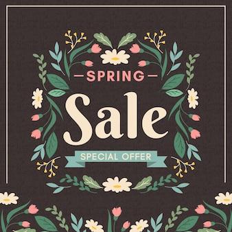 Concepto de venta de primavera vintage