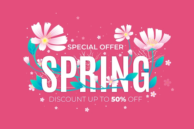 Concepto de venta promocional de primavera realista
