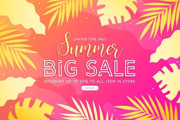 Concepto de venta de verano colorido
