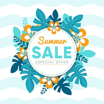 Concepto de venta de verano dibujado