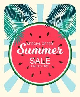 Concepto de venta de verano de fondo. ilustración
