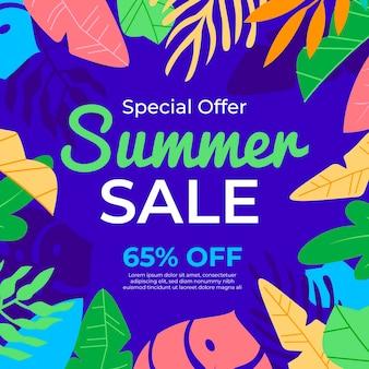 Concepto de venta de verano