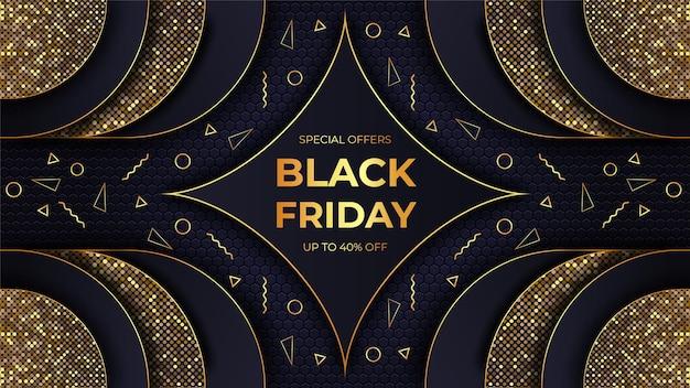 Concepto de venta de viernes negro de lujo moderno