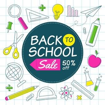 Concepto de ventas de regreso a la escuela