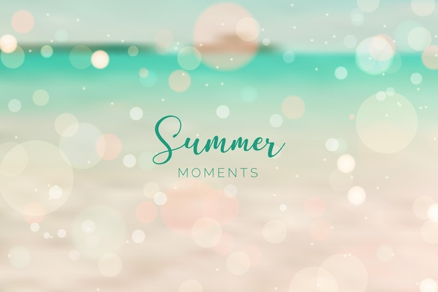 Concepto de verano hola borrosa