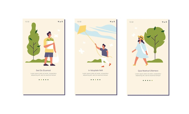 Concepto de verano de ilustración para el sitio web o la página de la aplicación móvil a bordo de la pantalla. gente disfrutando y relajándose su tiempo al aire libre en un parque.