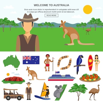 Concepto de viaje de australia