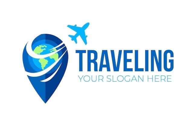 Concepto de viaje logotipo empresarial
