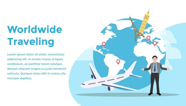 Concepto de viaje mundial