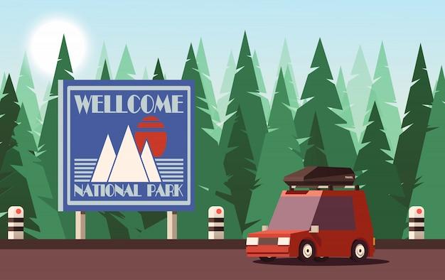Concepto de viaje o turismo. ilustración 2d